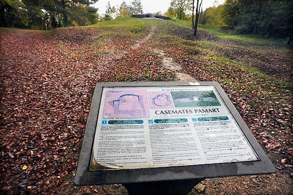 Frankrijk, Verdun, 19-10-2010Monumenten van de eerste wereldoorlog. Slag bij Verdun. Een bunker voor geschut, onderdeel van een groter fort.Foto: Flip Franssen/Hollandse Hoogte