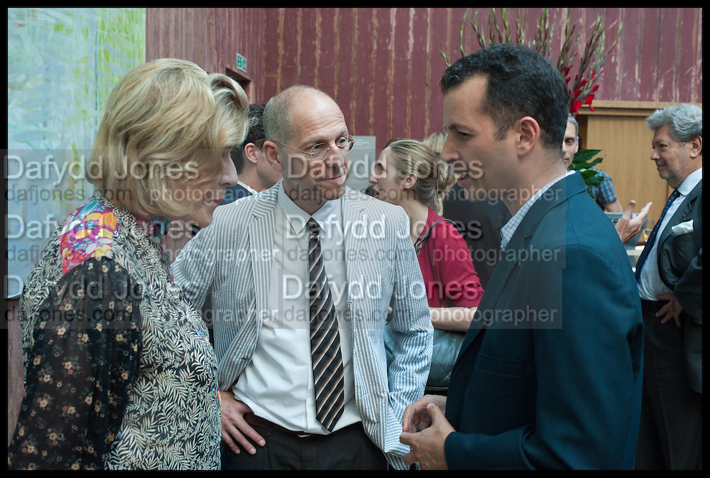 AGNES GUND; CRAIG STARR; MATTHEW SLOTOVER, Drinks party to launch this year's Frieze Masters.Hosted by Charles Saumarez Smith and Victoria Siddall<br />  Academicians' room - The Keepers House. Royal Academy. Piccadilly. London. 3 July 2014