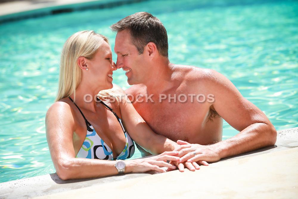 Romantic Couple in the Pool