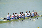 Plovdiv, BULGARIA.  GBR BM8+. Bow Rory GIBBS, William HALL,  Harry<br /> LEASK, Rufus SCHOLEFIELD, Henry MILLAR, Oliver<br /> KNIGHT,  Henry SWARBRICK, Morgan BOLDING and Cox Harry BRIGHTMORE. 2015 FISA U23 Championships. 23.07.2015. Thursday. [Mandatory Credit: Peter SPURRIER/Intersport Images]