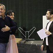 Staging rehearsal for Seattle Opera production of Orpheus & Eurydice.