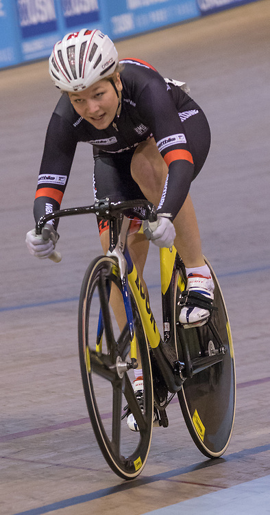 Odette Van Deventer (UCI School - Wattbike) during the UCI Sprint - Qualification 200m Time Trial - Women.   Revolution 55 Track Cycling Glasgow, 28th November 2015