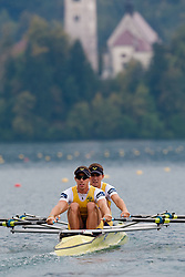 02.09.2011, See, Bled, SLO, World Rowing Champioships Bled 2011, im Bild Oskar Russberg and Dennis Bernhardsson of Sweden during Lightweight Men's Double Sculls at Rowing World Championships Bled 2011 on September 2, 2011, in Bled, Slovenia, EXPA Pictures © 2011, PhotoCredit: EXPA/ Sportida/ M. Klansek Velej *** ATTENTION *** SLOVENIA OUT!