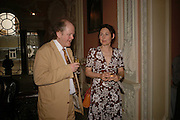 Craig Brown and the Marchioness of Normanby, Book launch of 'A Much Married Man' by Nicholas Coleridge. English Speaking Union. London. 4 May 2006. ONE TIME USE ONLY - DO NOT ARCHIVE  © Copyright Photograph by Dafydd Jones 66 Stockwell Park Rd. London SW9 0DA Tel 020 7733 0108 www.dafjones.com