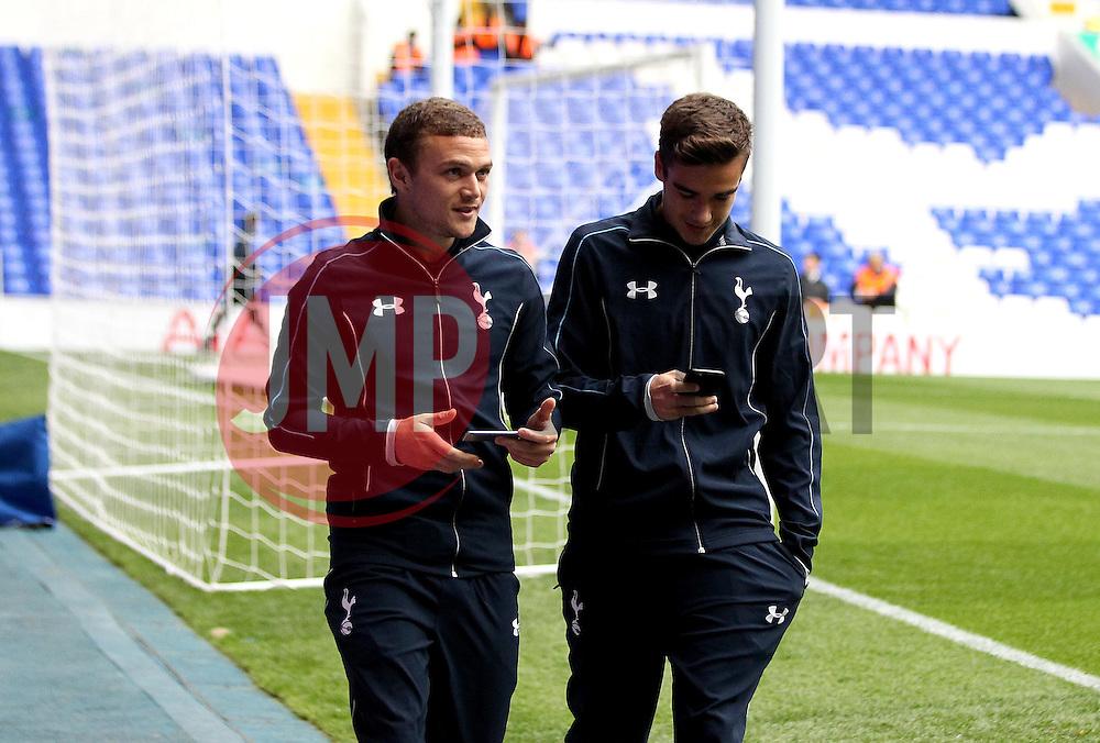 Kieran Trippier of Tottenham Hotspur and Harry Winks of Tottenham Hotspur arrive at White Hart Lane - Mandatory byline: Robbie Stephenson/JMP - 07966 386802 - 23/09/2015 - FOOTBALL - White Hart Lane - London, England - Tottenham Hotspur v Arsenal - Capital One Cup