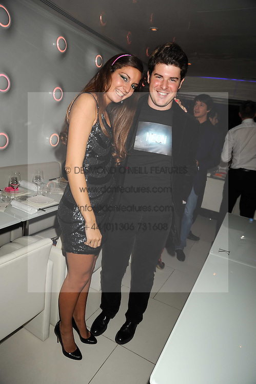 BENEDETTA DUBINI and NICOLO DEGANELLO at Tallulah Rufus-Isaac's 21st birthday party held at The Kingley Club, 4 Upper St Martin's Lane, London on 24th September 2008.