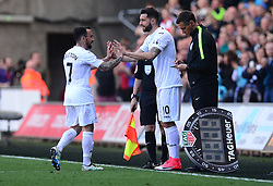 Borja Gonzalez of Swansea City replaces Leon Britton of Swansea City - Mandatory by-line: Alex James/JMP - 22/04/2017 - FOOTBALL - Liberty Stadium - Swansea, England - Swansea City v Stoke City - Premier League