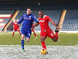 Rochdale's Ian Henderson & Crawley Town's Lanre Oyebanjo  - Photo mandatory by-line: Matt McNulty/JMP - Mobile: 07966 386802 - 17.01.2015 - SPORT - Football - Rochdale - Spotland Stadium - Rochdale v Crawley Town - Sky Bet League One