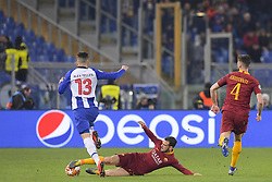 February 12, 2019 - Roma, Roma, Italia - Foto Luciano Rossi/AS Roma/ LaPresse.12/02/2019 Roma (Italia).Sport Calcio.AS Roma - Porto  .Uefa Champions League 2018 2019 - Stadio Olimpico di Roma.Nella foto: Alessandro Florenzi, Alex Telles..Photo  Luciano Rossi/AS Roma/ LaPresse.12/02/2019 Roma (Italia).Sport Soccer.AS Roma - Porto   .Uefa Champions League 2018 2019 - Olimpic Stadium of Roma (Italy).In the pic: Alessandro Florenzi, Alex Telles. (Credit Image: © Luciano Rossi/Lapresse via ZUMA Press)