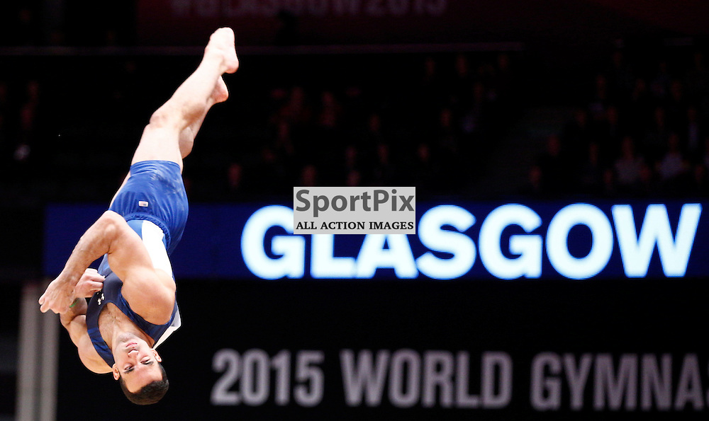 2015 Artistic Gymnastics World Championships being held in Glasgow from 23rd October to 1st November 2015.....Danell Leyva (USA) performs in the Floor Exercise in the Men's All-Round Final...(c) STEPHEN LAWSON | SportPix.org.uk