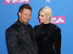 August 21, 2018 - New York City, New York, USA - 8/20/18.Mike ''The Miz'' Mizanin and Maryse Ouellet at the 2018 MTV Video Music Awards held at Radio City Music Hall in New York City..(NYC) (Credit Image: © Starmax/Newscom via ZUMA Press)