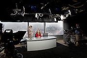 TV news studio london england uk presenters