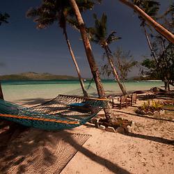 Hammock at Dolphin Beach, Turtle Island, Yasawa Islands, Fiji