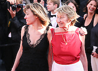 Director Valérie Bruni Tedeschi and actress Marisa Borini at the 'Un Chateau En Italie' film gala screening at the Cannes Film Festival Monday 20th May 2013
