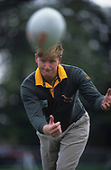 Ernie Els plays rugby<br /> 1994<br /> portrait<br /> <br /> Picture Credit:  Mark Newcombe / www.visionsingolf.com