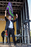 Dave Prentice, GS of Unison at the TUC demo at the Conservative party conference, Manchester. 4th October 2015