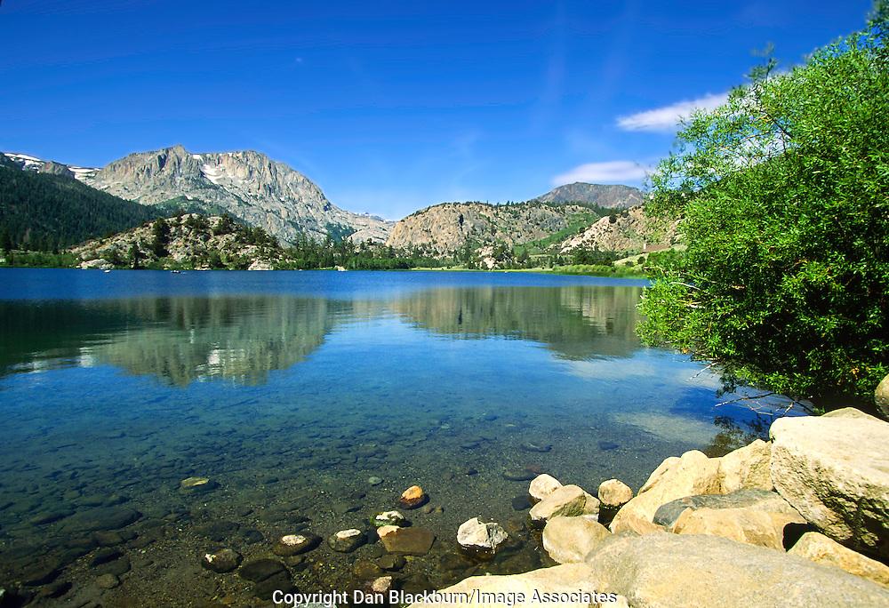 Summer at Gull Lake in the Eastern Sierra Nevada mountain range and John Muir Wilderness of California.