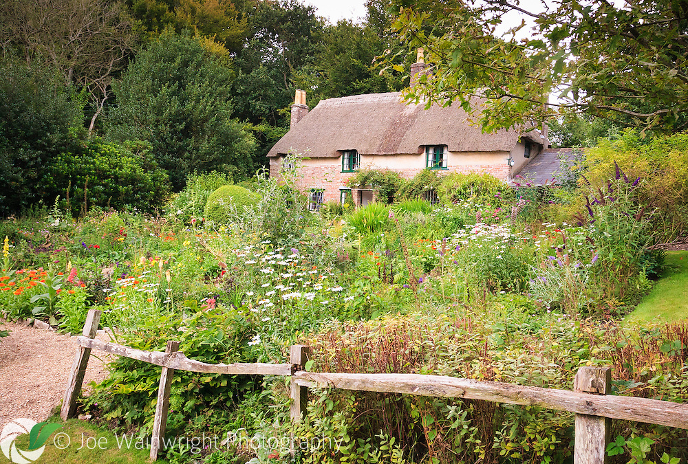 The beautiful cottage garden at Hardy's Birthplace, near Dorchester, Dorset.