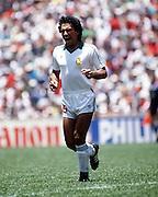 HUGO SANCHEZ..MEXICO WORLD CUP 1986..MEXICO V BELGIUM 03/06/1986..WORLD CUP 1986.