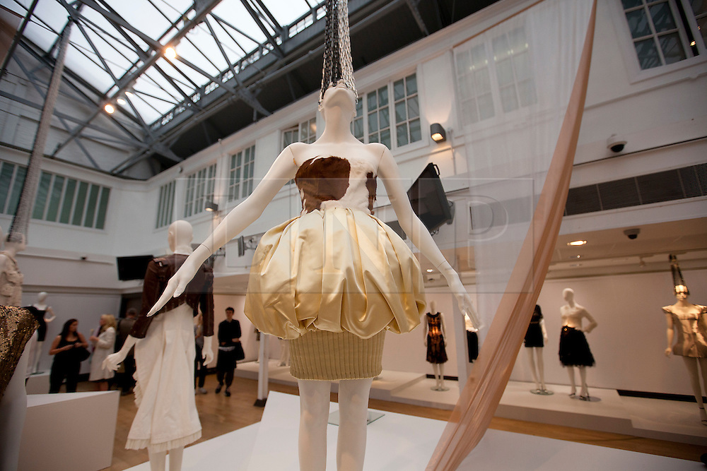© Licensed to London News Pictures. 21/06/2012. LONDON, UK. A Christian Lacroix dress (Est: £1,000-2,000) from the collection of fashion muse Daphne Guinness is seen at Christies South Kensington Auction House in London today (21/0612) ahead of a charity auction.  The auction, held in aid of The Isabella Blow Foundation, features 102 lots of shoes, clothes and photographs from Daphne Guinness's private collection and is expected to realise in the region of £100,000 when it takes place on the evening of the 27th of June. Photo credit: Matt Cetti-Roberts/LNP