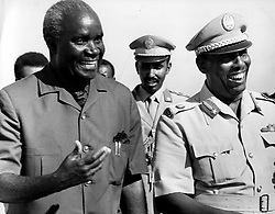 Aug 01, 1974; Mogadishu, Somalia; President of Somali Democratic Republic, General MOHAMED SIYAD BARRE, born in Lugh Ferrandu in 1919. Educated in Lugh Ferrandi, Mogadishu. Joined Police Force in 1941. Regional Divisional Commander in 1950. Sent to Italian Military Academy in 1959. Colonel, Deputy Commander of the Army in 1965. President of the Supreme Revolutionary Council in 1969. Resigned as C-in-C in 1970. Married and father of 20 children. The picture shows President KENNETH KAUNDA from Zambia with President Barre. (Credit Image: © Keystone Press Agency/Keystone USA via ZUMAPRESS.com)