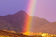 Rainbow over Buttermilk Country, Sierra Nevada Mountains, Bishop, California USA