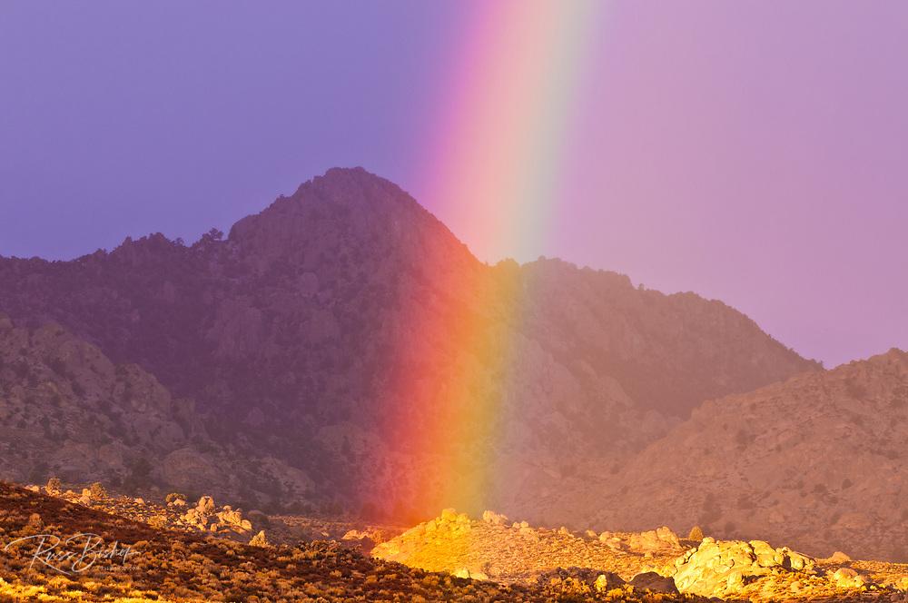 Rainbow over Buttermilk Country, Sierra Nevada Mountains, Bishop, California USA