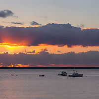 Sunrise over Chatham Harbor. Chatham, Massachusetts. Near Cape Cod National Seashore