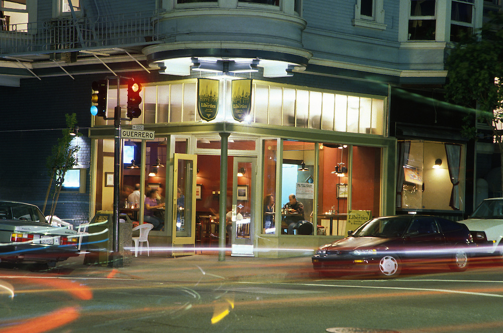 The Liberties restaurant exterior, San Francisco. 1999