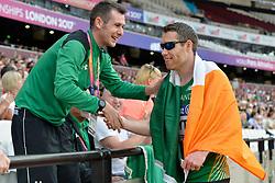 18/07/2017 : Jason Smyth (IRL), Michale McKillop (IRL), Men's 200m, at the 2017 World Para Athletics Championships, Olympic Stadium, London, United Kingdom