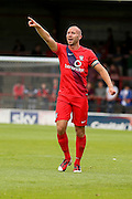 Russell Penn during the Friendly match between York City and Sheffield Wednesday at Bootham Crescent, York, England on 18 July 2015. Photo by Simon Davies.