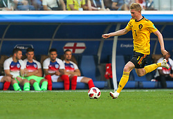 July 14, 2018 - Saint Petersburg, Russia - Kevin De Bruyne of the Belgium national football team vie for the ball during the 2018 FIFA World Cup Russia 3rd Place Playoff match between Belgium and England at Saint Petersburg Stadium on July 14, 2018 in St. Petersburg, Russia. (Credit Image: © Igor Russak/NurPhoto via ZUMA Press)