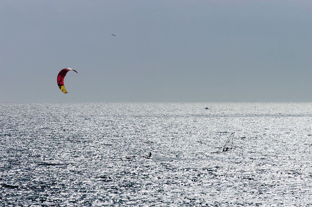 parasailing, marbella, costa, del, sol, spain, water sport, windsurfing, spain, holiday