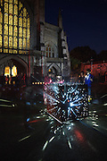 world war one WW1 lights out AR design studio winchester cathedral light installation