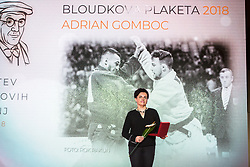 Mother of Adrian Gomboc and Jakov Fak at 54th Annual Awards of Stanko Bloudek for sports achievements in Slovenia in year 2018 on February 13, 2019 in Brdo Congress Center, Brdo, Ljubljana, Slovenia,  Photo by Peter Podobnik / Sportida