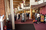 People inside library, Lewes, East Sussex, England