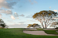 Looking out over the Pacific Ocean from the Robert Trent Jones II golf course located at the Reserva Conchal Resort. The beautiful course includes a variety of scenery including Costa Rica's national tree, the Guanacaste.