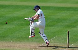 Lancashire's Steven Croft pulls the ball. - Photo mandatory by-line: Harry Trump/JMP - Mobile: 07966 386802 - 08/04/15 - SPORT - CRICKET - Pre Season - Somerset v Lancashire - Day 2 - The County Ground, Taunton, England.