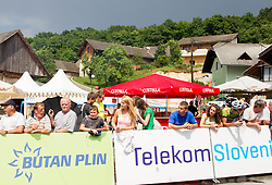 Supporters during Slovenian Road Cyling Championship 2013 on June 23, 2013 in Gabrje, Slovenia. (Photo by Vid Ponikvar / Sportida.com)