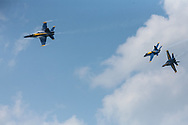 Dayton Air Show in Dayton Ohio featuring the Navy Blue Angles