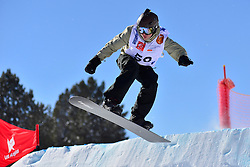Snowboarder Cross Action, OSHAROV Ivan, UKR at the 2016 IPC Snowboard Europa Cup Finals and World Cup