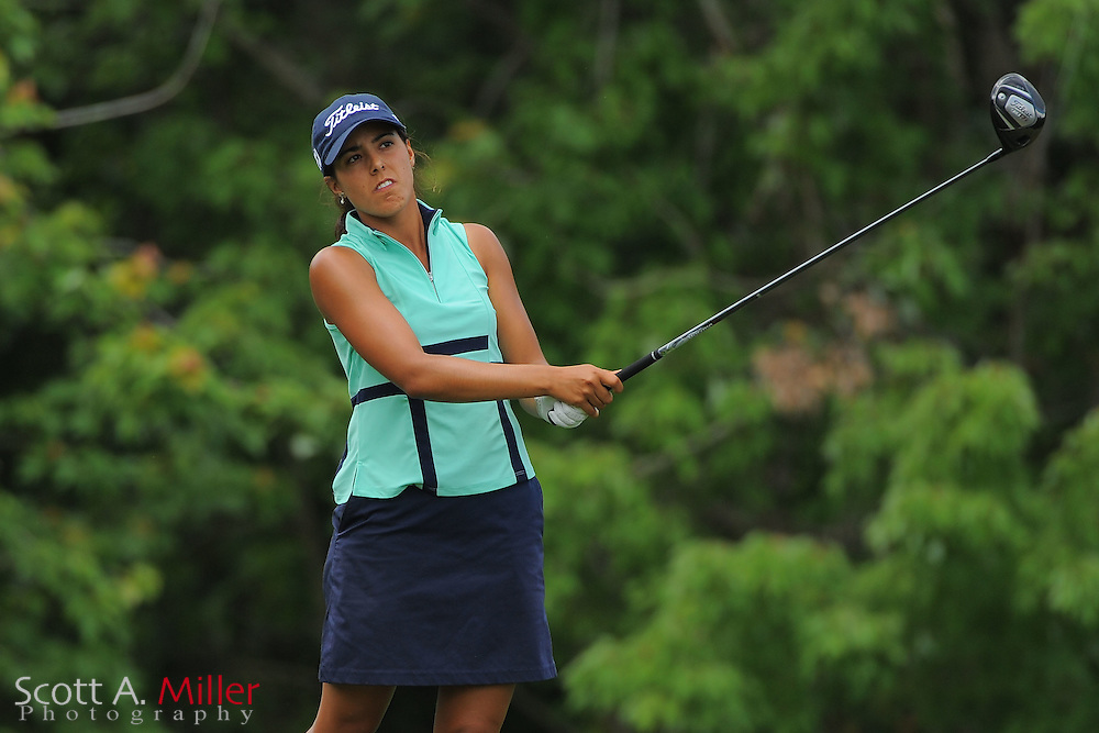 Paola Moreno during the final round of the Symetra Tour's Florida's Natural Charity Classic at the Lake Region Yacht and Country Club on March 25, 2012 in Winter Haven, Fla. ..©2012 Scott A. Miller.