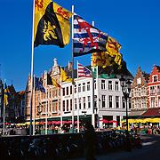 Market Square .Bruge, Belgium.