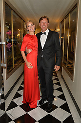 DARCEY BUSSELL and ANGUS FORBES at a dinner hosted by the Royal Academy of Dance to present the Queen Elizabeth II Award 2014 held at Claridge's, Brook Street, London on 4th September 2014.