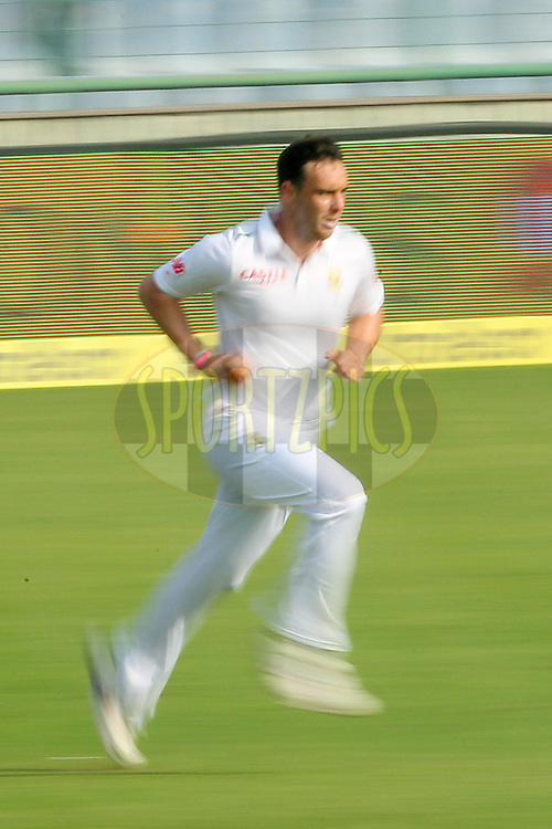 Kyle Abbott of South Africa ] during day two of the 4th Paytm Freedom Trophy Series Test Match between India and South Africa held at the Feroz Shah Kotla Stadium in Delhi, India on the 4th December 2015<br />