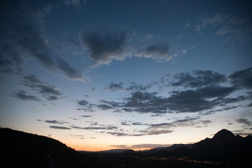 Deep Blue Sedona Sunset<br /> Airport Vortex<br /> Sedona Arizona