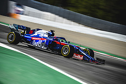 May 12, 2019 - Barcelona, Catalonia, Spain - DANIIL KVYAT (RUS) from team Toro Rosso drives in his STR14 during the Spanish GP at Circuit de Catalunya (Credit Image: © Matthias Oesterle/ZUMA Wire)