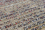 Nederland, Zeeland, Vlissingen, 23-10-2013; Sloehaven, auto-overslag Cobelfret met de RoRo Terminal vol auto's die wachten op vervoer.<br /> Port of Vlissingen, the roro terminal of Cobelfret Car transshipment. Cars waiting for transport<br /> luchtfoto (toeslag op standaard tarieven);<br /> aerial photo (additional fee required);<br /> copyright foto/photo Siebe Swart.
