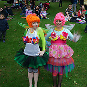 Ladies dressed in fancy dress costume during the Festival of Lights at Pukekura Park. New Plymouth, New Zealand, 19th December  2010 Photo Tim Clayton..