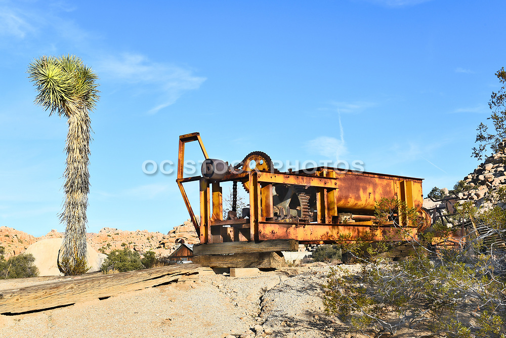 Rusted Equipment at Keys Ranch Joshua Tree National Park